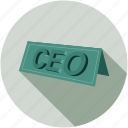 ceo, chief executive officer, label icon