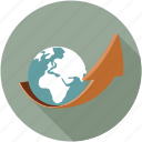 global growth, growth icon