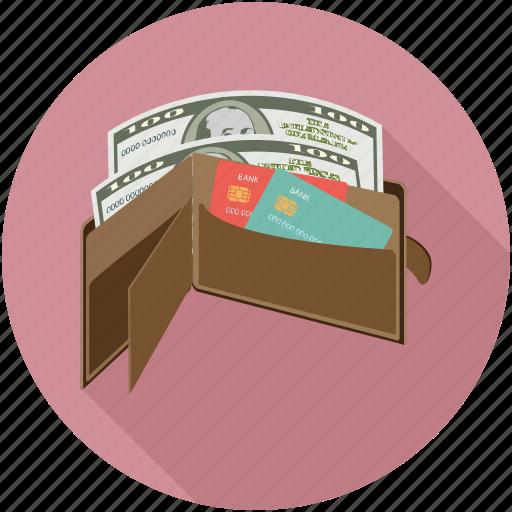 money in wallet, open wallet, wallet icon