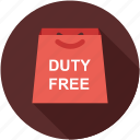 bag, duty free, shopping bag icon