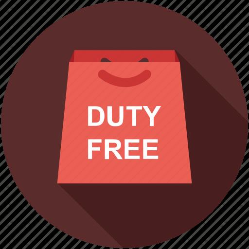 bag, duty free, shopping bag icon