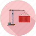 container, container lifter, lift container, under construction, work in progress icon