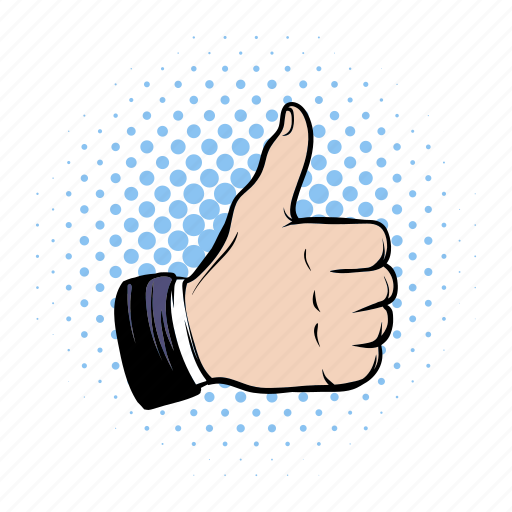 comics, hand, human, ok, positivity, success, thumb icon