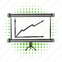 arrow, board, business, chart, diagram, growth, profit icon