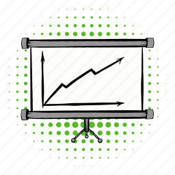 arrow, board, business, chart, diagram, growth, profit icon