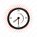 hour, clock, comics, watch, timer, circle, minute