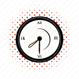 circle, clock, comics, hour, minute, timer, watch icon
