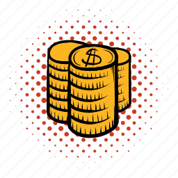 currency, dollar, financial, investment, money, stack, treasure icon