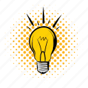 bulb, creative, energy, idea, illumination, lightbulb, power icon