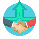partners, handshake, concept, business, agreement, hands