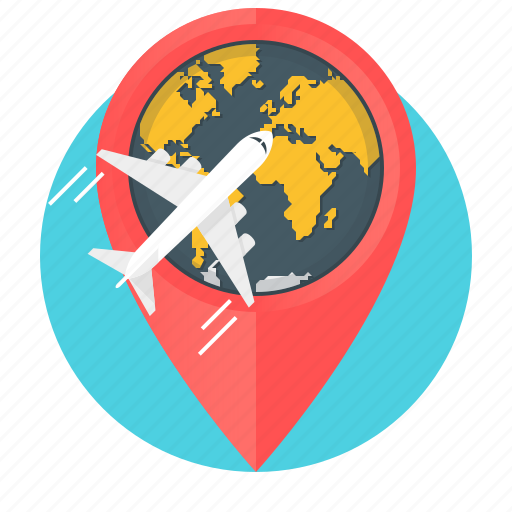 business, business trip, flight, global, pin, travel, world icon