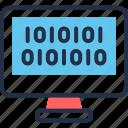 algorithm, binary, code, lcd, source, web, website icon