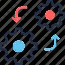 business, cogwheel, data, management, process, project, refresh