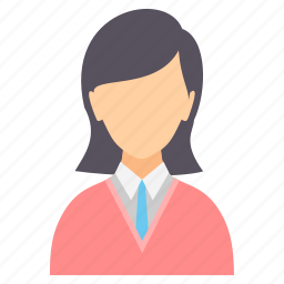 female, girl, lady, person, profile, user, woman icon