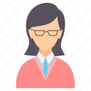 lady, spects, student, female, girl, studious