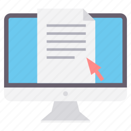 computer, document, file, format, page, paper, text icon