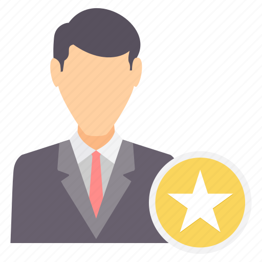 employee, favorite, male, man, rate, rating, star icon