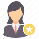 achievement, employee, favorite, rate, rating, star icon