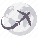 business, flight, global, globe, tour, tourism, world icon