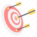 aim, arrow, bullseye, dart, direction, goal, target icon
