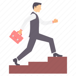 achievement, business, growth, ladder, stairs, success icon