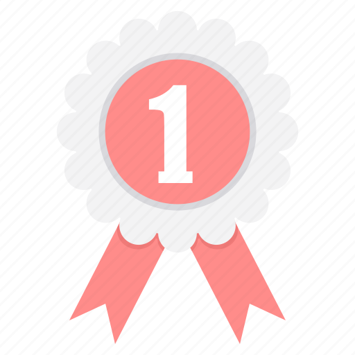 achievement, badge, first, label, win, winner, won icon