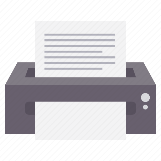 document, file, paper, print, printer, printing, work icon