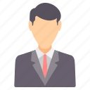 account, business, employee, male, man, people, profile icon