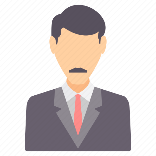 boss, business, man, moustache, people, profile, user icon