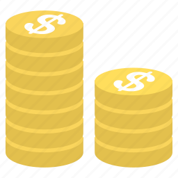 business, coin, coins, currency, finance, money, payment icon