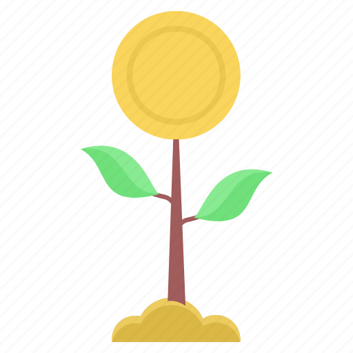 cash, finance, funds, growth, money, plant, startup icon
