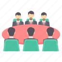 business, conference, group, meet, meeting, people icon
