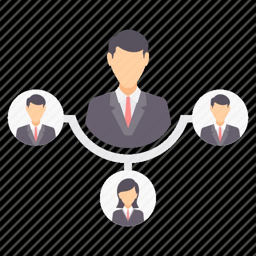 lead, male, organization, structure, team icon