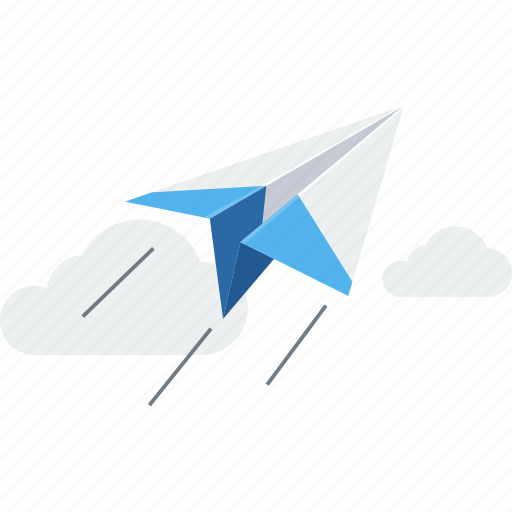 email, message, paper plane, post, relay, send icon