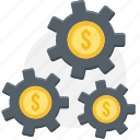 dollar, finance, manage, management, money, process, revenue icon