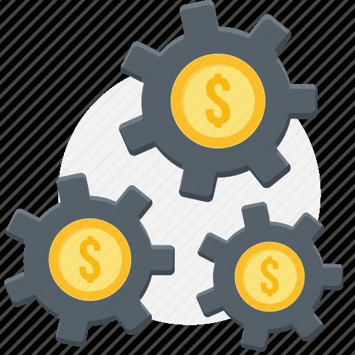 dollar, finance, manage, management, money, process, revenue icon