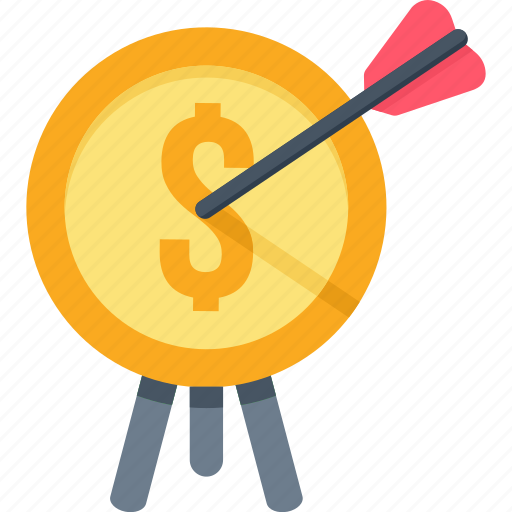 aim, arrow, direction, goal, monthly, revenue, target icon