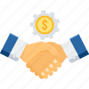 agreement, contract, deal, financial, money, partnership, vendor icon