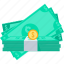 bank, banking, cash, dollar, money, paper, salary icon