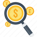 bank, converter, currency, finance, locator, money, search icon