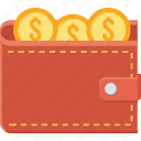 cash, dollar, guardar, money, save, savings, wallet icon
