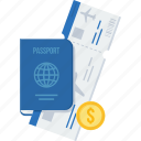 id, identification, identity, passport, tourism, travel, visa icon