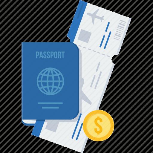 id, identification, identity, passport, tourism, travel, visa icon