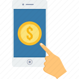 dollar, finance, mobile, money, payment, phone, shopping icon