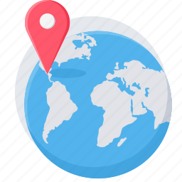 country, earth, gps, location, map, navigation, world icon