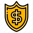 financial, guard, prevention, protect, strategies icon