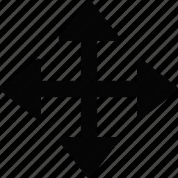 arrow, cursor, move icon