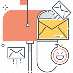 box, email, mail, mailbox, mailing, mails, postal icon
