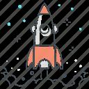 achievement, adventure, beginnings, business, commerce, exploration, rocket icon