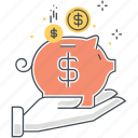 bank, banking, business, cash, coin, commerce, piggy bank icon